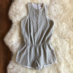 Shades of Grey by Micah Cohen Printed Romper Small